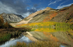 North Lake Aspen (Marc Briggs) Tags: california storm fall clouds fallcolor sierra aspen sierranevada bishop northlake easternsierra bishopcanyon dsc0209b