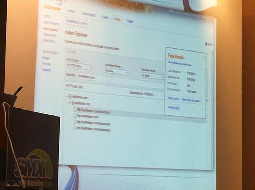 Bing Webmaster Center Link Explorer