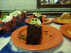 Jack Skellington Cake at Disneyland (partyhare) Tags: halloween cake chocolate disneyland disney whippedcream bakery jackskellington raspberry whitechocolate nightmarebeforechristmas halloweentime
