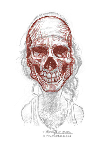 Schoolism Assisgnment 6 - sketch 1 of Robert skull