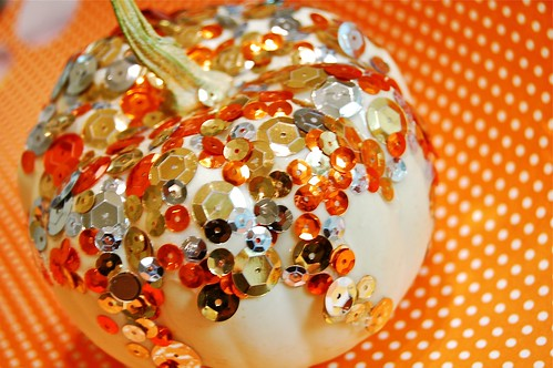 Simple Sequin Sparkle Pumpkin