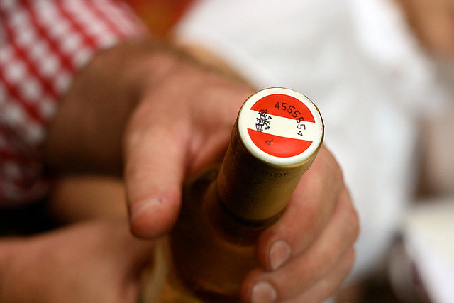 Every Austrian bottle of wine will have this individualised stamp