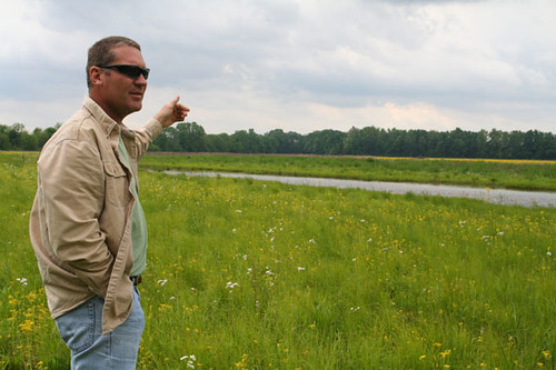 Dave Hiatt, NRCS biologist, at one of the Clark County easements that, since stopped being cropped, has begun the process of returning back to a floodplain.