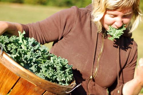 Mmmm, raw kale!
