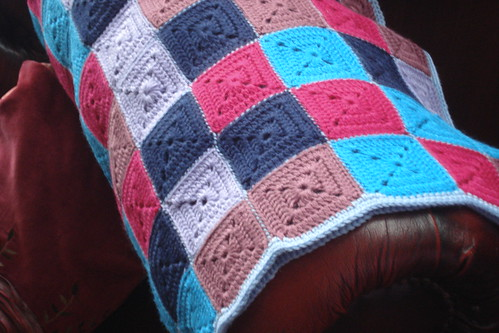 crochet squares blanket throw