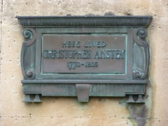 Photo of Christopher Anstey bronze plaque