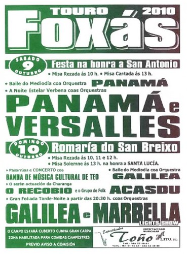 Touro - Foxás 2010 - cartel
