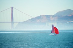 passing by (jpaulus) Tags: bridge red golden bay boat gate marin area headlands d700