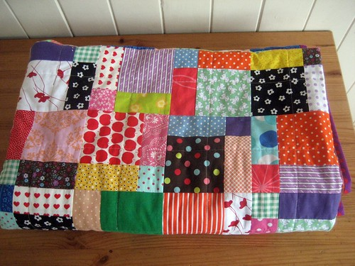 little girl quilt folded