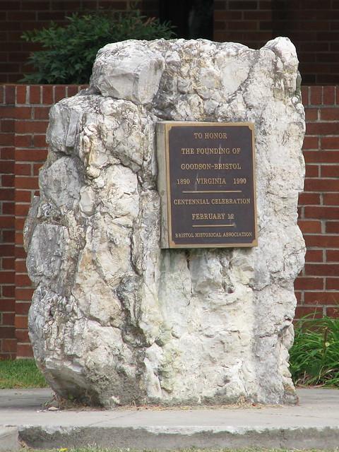 Bristol, VA centennial marker