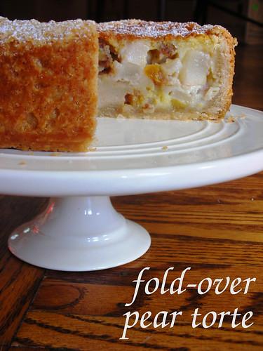 fold-over pear torte
