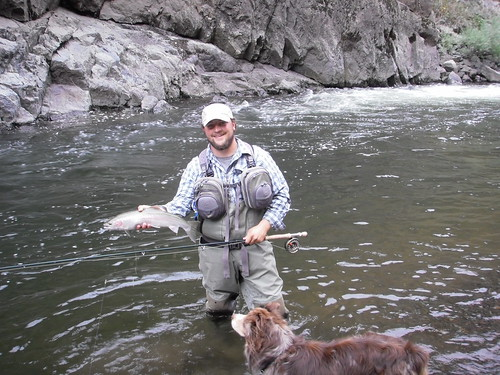 Cody with an Imnaha steelhead