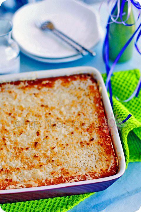 Kue Singkong Keju - Cassava Cheese Cake
