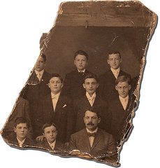 John Tierney, School Photo Fragment, circa 1907