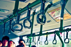 Day 110/365. Friends.... (A. adnan) Tags: guangzhou china blue friends bus green nikon asia 365 concept tones handles symbolic project365 365days d5000