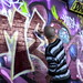 Graffiti artist on Leake Street