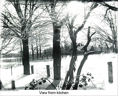 Winter Scene, Dublin New Hampshire (Keene and Cheshire County (NH) Historical Photos) Tags: trees winter house snow fence farm dublinnh dublinnewhampshire graniteposts maryerobbe