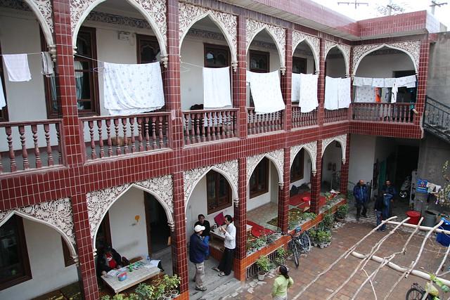 カシュガル旧市街のユースホステル