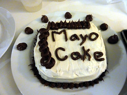 Microwaved Chocolate Mayonnaise Cake