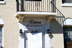 The Miriam (LarryJay99 ) Tags: street door shadow detail building sign apartments balcony number balconies miriam efs1855mmf3556 ilobsterit
