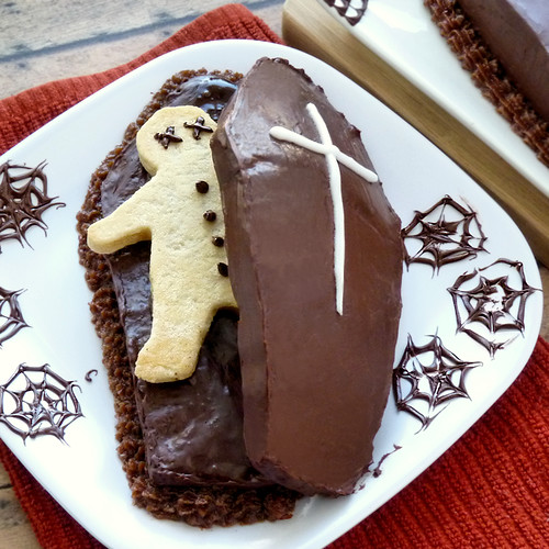 Coffin Cake with Dead Dude