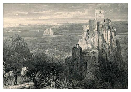 016-Gaucin en la serrania de Ronda-Tourist in Spain-Granada-1835-David Roberts
