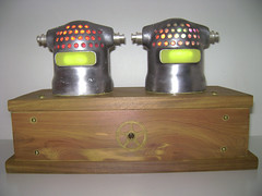 Hammer Heads Night Light : Assemblage Robot Art (Talbotics) Tags: sculpture art robot nightlights handmade assemblage led robots recycledart leds foundart hammerhead blackanddecker assemblageart nitelites junkart hammerdrill foundobjectart robotart nightlites robotsculpture assemblagerobot foundobjectrobot foundartrobot talbotics