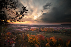 Rattlesnake Point (Horizontal by Request) (Insight Imaging: John A Ryan Photography) Tags: autumn red orange ontario canada sunrise milton rattlesnakepoint