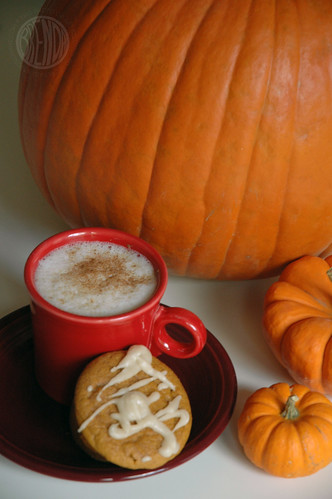 pumpkin muffins and a pumpkin latte
