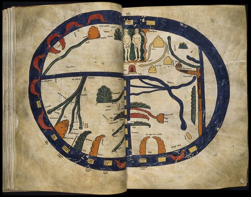 There Is Plenty Of Evidence To The Contrary However True Was In Middle Ages A Flat Earth Mappa Mundi Map World