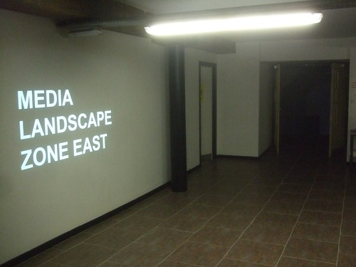 Media Landscape: Zone East in the basement of the NOVAS Contemporary Urban Centre.