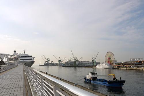 Terminal pier in Kobe port
