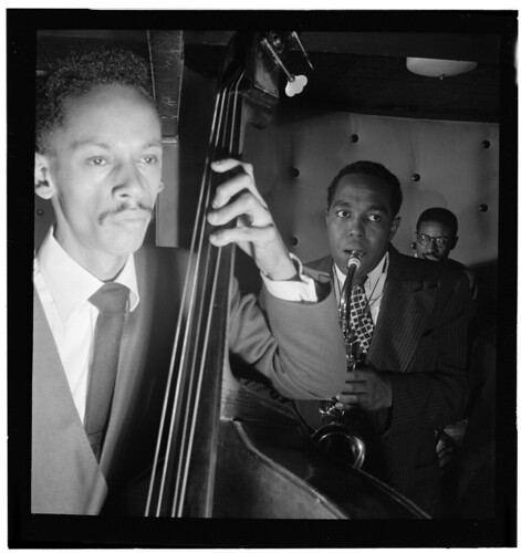 [Portrait of Charlie Parker, Tommy Potter, and Max Roach, Three Deuces, New York, N.Y., ca. Aug. 1947] (LOC)