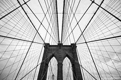 Brooklyn Bridge (Dang Lam) Tags: new york city bridge brooklyn clouds walk bricks transport icon cables wires passage iconic