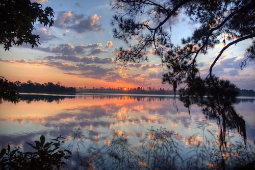 フリー写真素材, 自然・風景, 湖・池, 朝日・朝焼け・日の出, アメリカ合衆国,