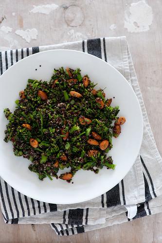 w2 black quinoa & broccolini salad