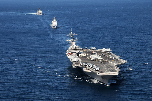 フリー写真素材, 乗り物, 船・船舶, 軍用船, 航空母艦, ジョージ・H・W・ブッシュ (CVN-), アメリカ海軍,
