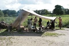 Kochstelle unter dem Sommerzelt in Haithabu Wikinger Museum WHH 25-09-2010