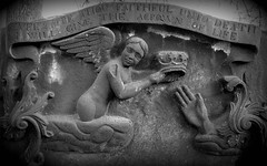 I Will Give the Crown of Life (Star Cat) Tags: uk trip travel vacation holiday church cemetery grave stone angel fun scotland edinburgh hand rip tomb tombstone abroad cherub gravestone crown churchyard restinpeace stcuthberts cityofthedead