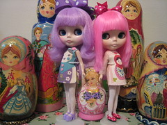 Simply Lilac and Simply Guava Blythe