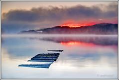 Sunrise. (artfromaf) Tags: autumn winter mist sunrise reflections scotland pier nikon jetty lee nd nikkor filters grad callander stirlingshire aberfoyle lochard kinlochard d700 artfromaf