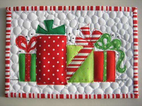 Merry Christmas Mug Rug