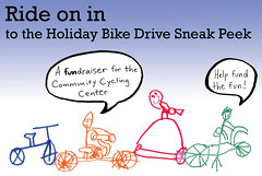 Holiday Bike Drive Sneak Peek invitation