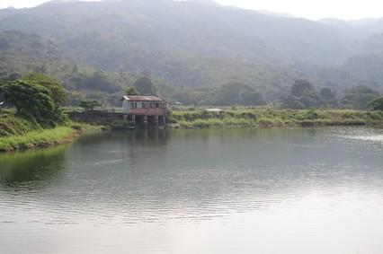 南涌(Nam Chung)の池はひっそりと静まり返っていた