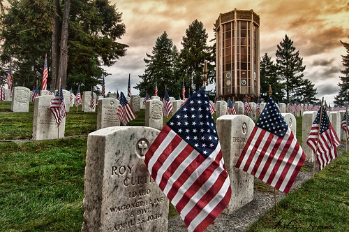 Veteran's Day at Evergreen Washelli Cemetary - Seattle, WA