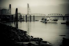 portland, oregon (dibec) Tags: city bridge fog oregon portland photo gloomy pdx hawthorne postprocessing