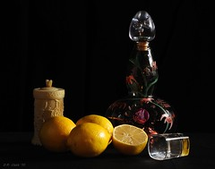 Tequila and Lemons (Dennis Cluth) Tags: life still nikon tequila lemons 365 d90