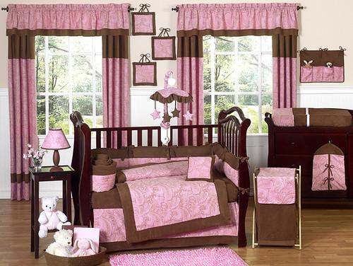 JoJo Designs Pink Paisley Cribset at www.uniquelinensonline.com