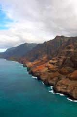Kauai Waimea Canyon and NaPali coast (topendsteve) Tags: ocean sunset beach water hawaii waterfalls kauai waimea helicopters napali keebeach hawaiianislands gardenisle