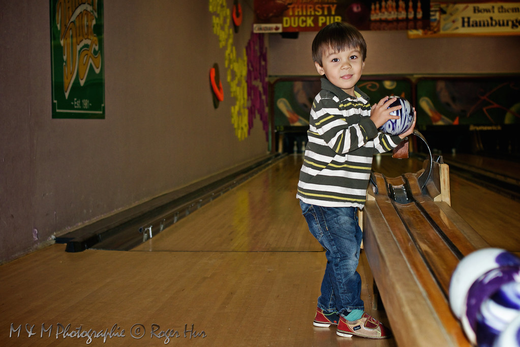 Malcolm at the bowling alley again...